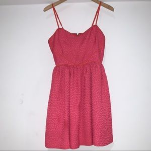 Cooperative urban outfitters sweetheart pink dress